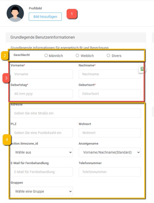 Eigene Abbildung - Grundlegende Benutzerinformationen